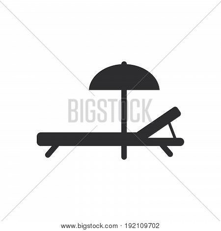 Beach Chaise Longue icon filled flat sign solid glyph pictogram vector illustration