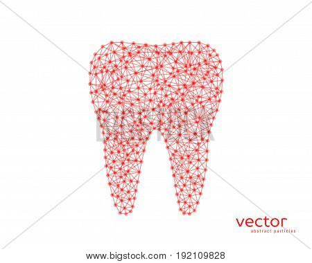 Abstract Vector Illustration Of Tooth.
