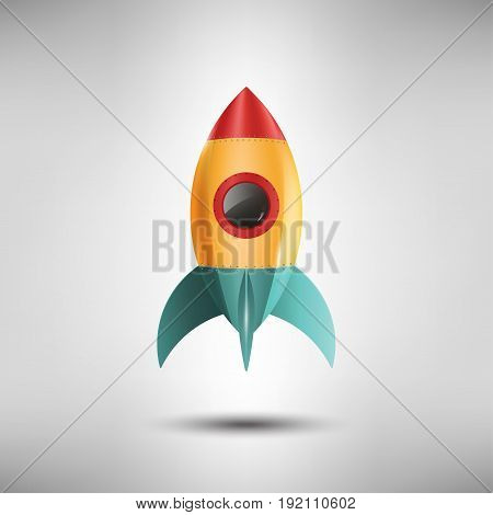 Space Rocket Start Up and Launch Symbol, Design Icons, startup concept, Vector Illustration