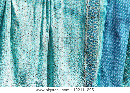 Close up Old Traditional Thai style sheets