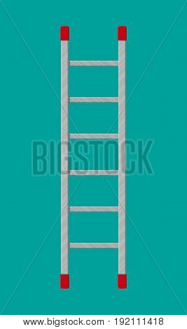 Metal ladder. Vector illustration in flat style