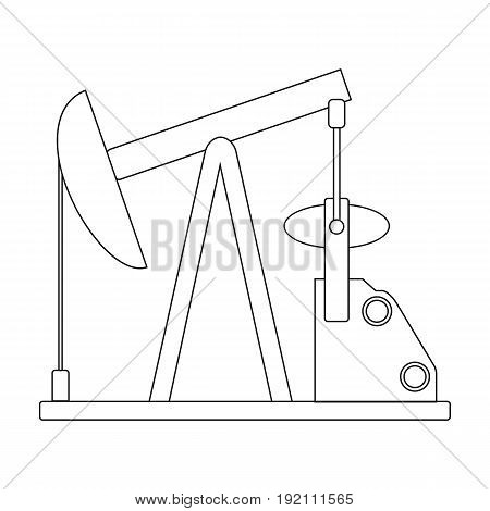 Oil pump.Oil single icon in outline style vector symbol stock illustration .