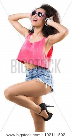 Girl african disco fashion model multi colored youth culture teenage girl