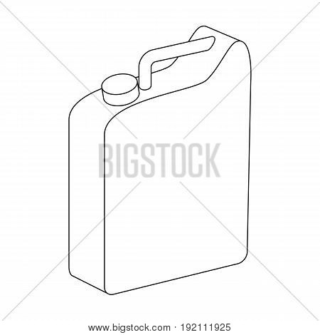Canister for gasoline.Oil single icon in outline style vector symbol stock illustration .