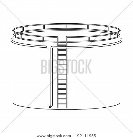 Oil storage tank.Oil single icon in outline style vector symbol stock illustration .