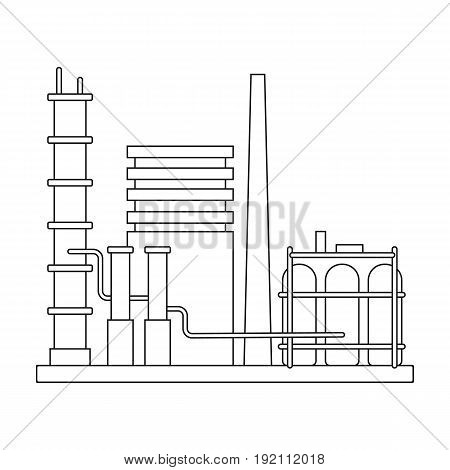Refinery.Oil single icon in outline style vector symbol stock illustration .