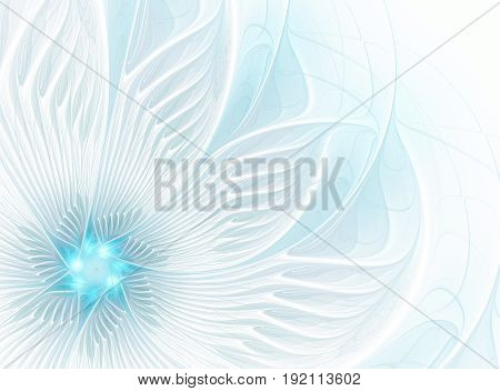 abstract fractal background a computer-generated illustration fractal flower