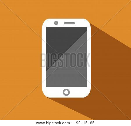 Vector flat icon of phone. Eps 10 Vector illustration