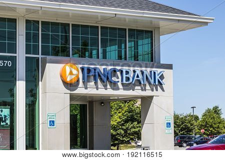 Indianapolis - Circa June 2017: PNC Bank Branch. PNC Financial Services offers Retail Corporate and Mortgage Banking X