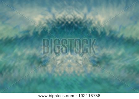 Turquoise abstract glass texture background or pattern creative design template with copyspace