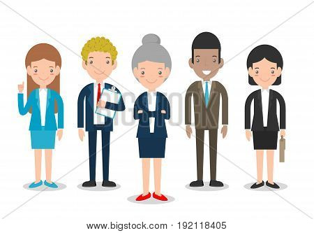 Business People Group Diverse Team, Business team of employees and the boss, businessman and businesswoman.