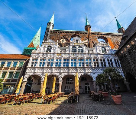Luebeck Rathaus City Hall Hdr