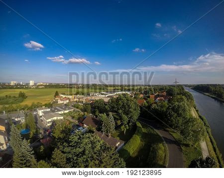 Aerial Photo Of The Landscape Near The Main-danube Channel Near Erlangen In Bavaria