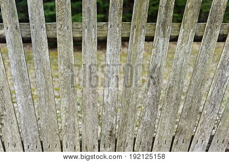 old wooden fence weathered by the years