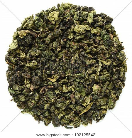 Huang Jin Gui chinese oolong tea isolated
