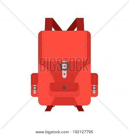 Backpack Isolated. Knapsack On White Background. Rucksack