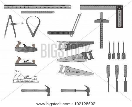 set of tools for working with wood.