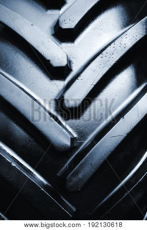 Brand new tractor tire close up detail