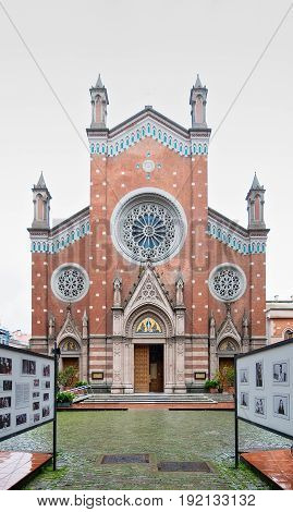Istanbul, Turkey - April 18, 2017: St. Anthony of Padua Church, the largest Roman Catholic Church in Istanbul