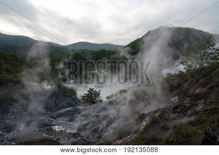 Oyunuma, Jigokudani (Hell Valley), Noboribetsu, Hokkaido Prefecture, Japan