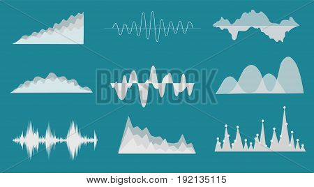 Sound wave background, vector illustration with layers file