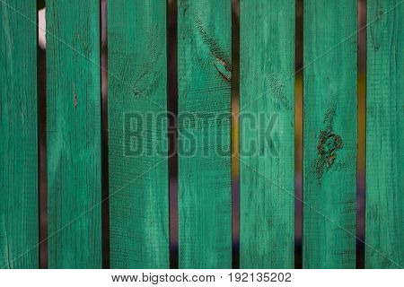 Vintage Green Wood Panel Fine Arranged As Wall For Interior Design And Exterior Decoration