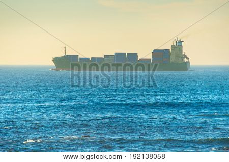 Fully Loaded Industrial Ship