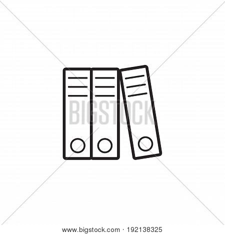 Lever Arch Binders thin line icon, paper folders outline vector logo illustration, linear pictogram isolated on white