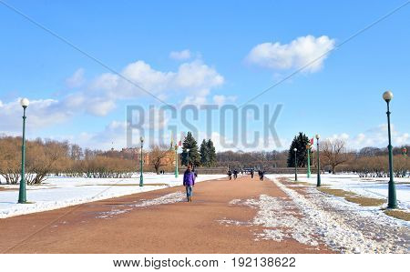 Field of Mars in St.Petersburg at winter Russia.