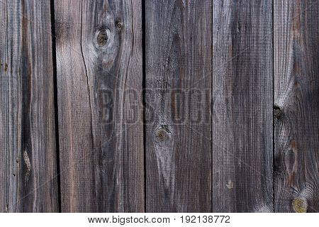 texture from dark wooden boards. Fragment of dark wooden fence