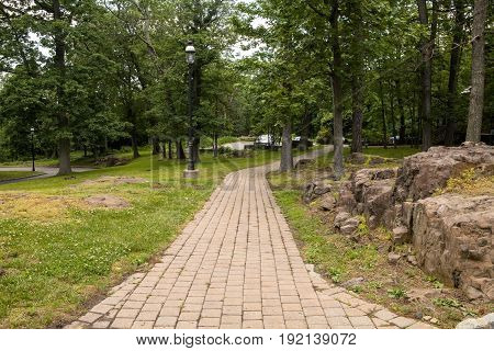 The Path to the carriage house at Kip's Castle