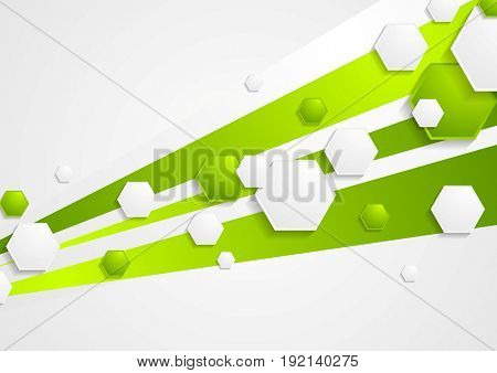 Abstract green tech bright background