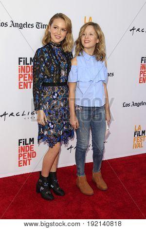 LOS ANGELES - JUN 19:  Talitha Bateman, Lulu Wilson at the 2017 Los Angeles Film Festival -