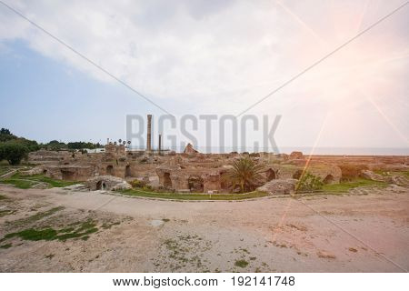 Archeological site of Carthage; Antonine Thermae; Tunis; Tunisia