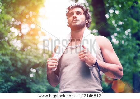 Athlete having a moment of relax after a fast run