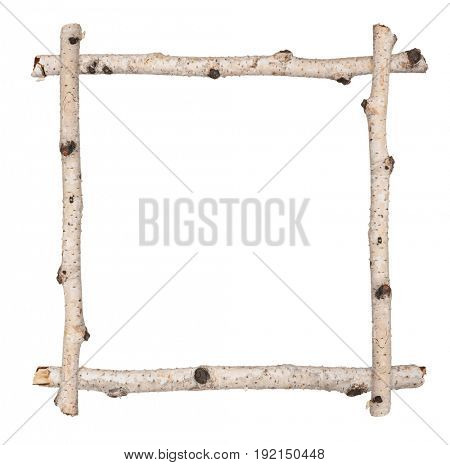 Twig frame of birch