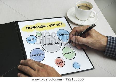 Business Accounting Diagram Circles
