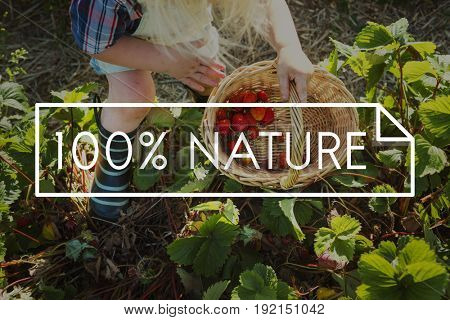 100% Nature Organic Freshly Picked Healthy Eating