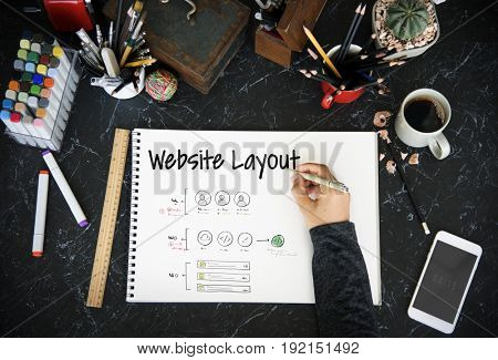 Website Design Content Layout Graphic Word