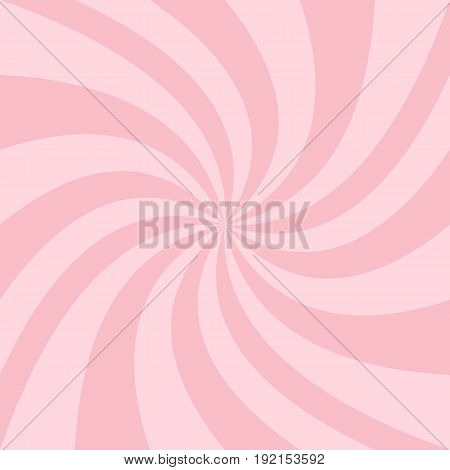 Abstract swirl background from pink twisted spiral ray stripes - vector grpahics