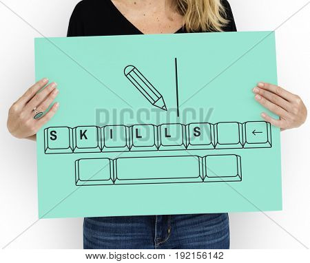 Illustration of insight education keyboard typing