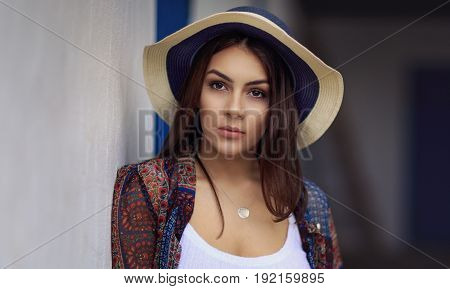 Portrait of an attractive woman in natural light