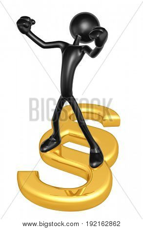 Legal Concept The Original 3D Character Illustration With A Section Symbol