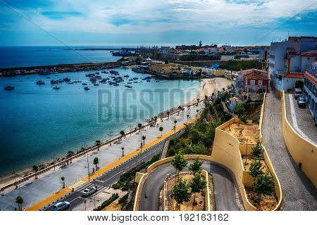 Portugal: the old town of Sines, a Portuguese city, located on Atlantic coast
