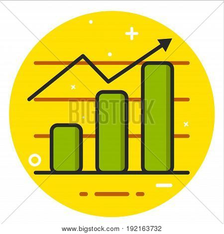 Chart icon design graphic art illustration vector
