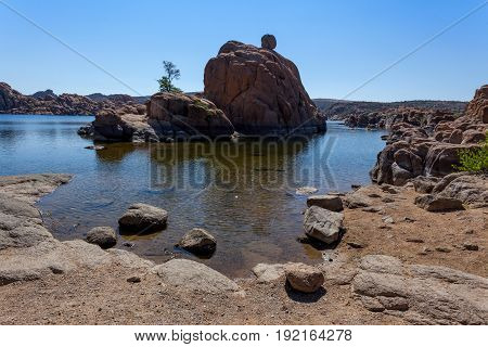 Watson Lake Rock Formations Recreation Prescott water and Island