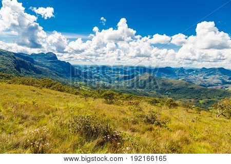 Top of a mountain in Matutu, state of Minas Gerais, Brazil