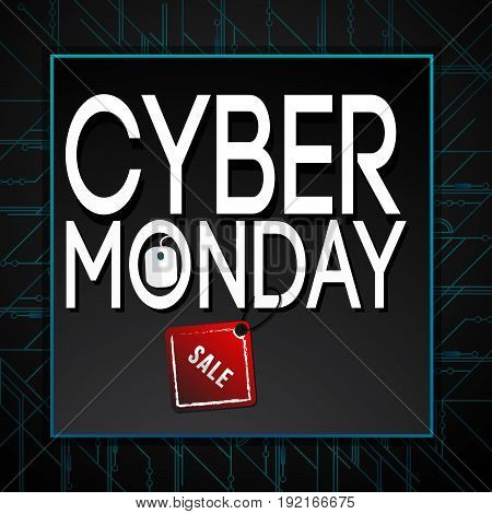 cyber monday deals design, vector illustration eps10 graphic