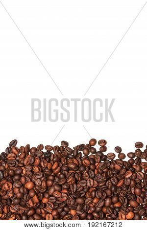 Coffee Beans. Located on a white background.