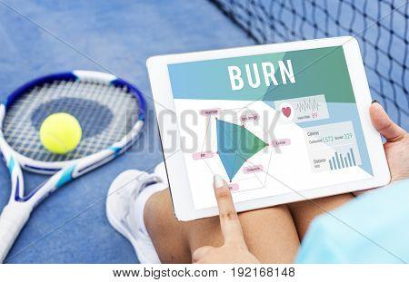 Health conscious burn diagram
